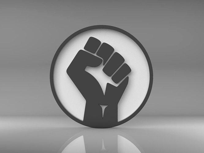 BLM Black Lives Matter Logo Symbol Emblem