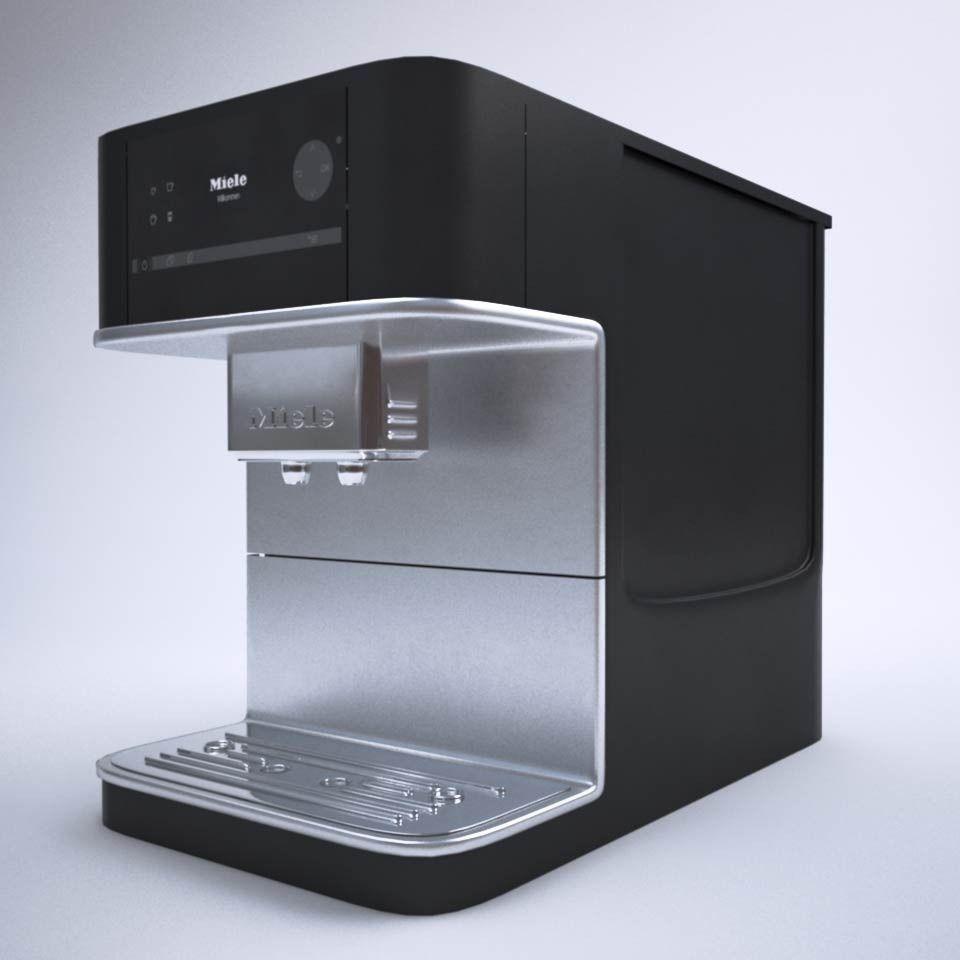miele cm 6100 coffee machine 3d model obj 3ds fbx mtl. Black Bedroom Furniture Sets. Home Design Ideas