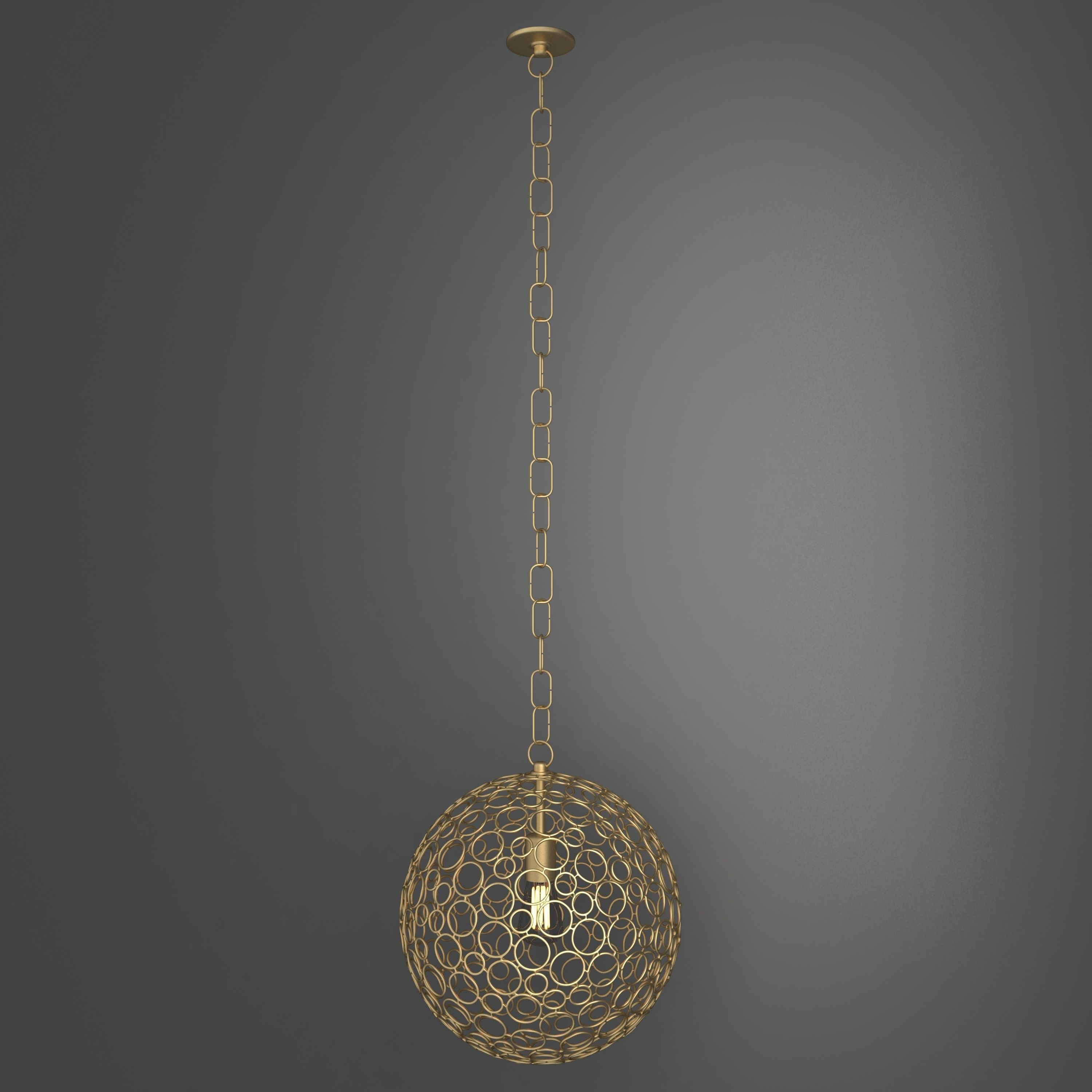 3d Shades Of Light Circle Sphere Pendant Small Cgtrader
