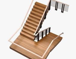 3D asset Stair 005