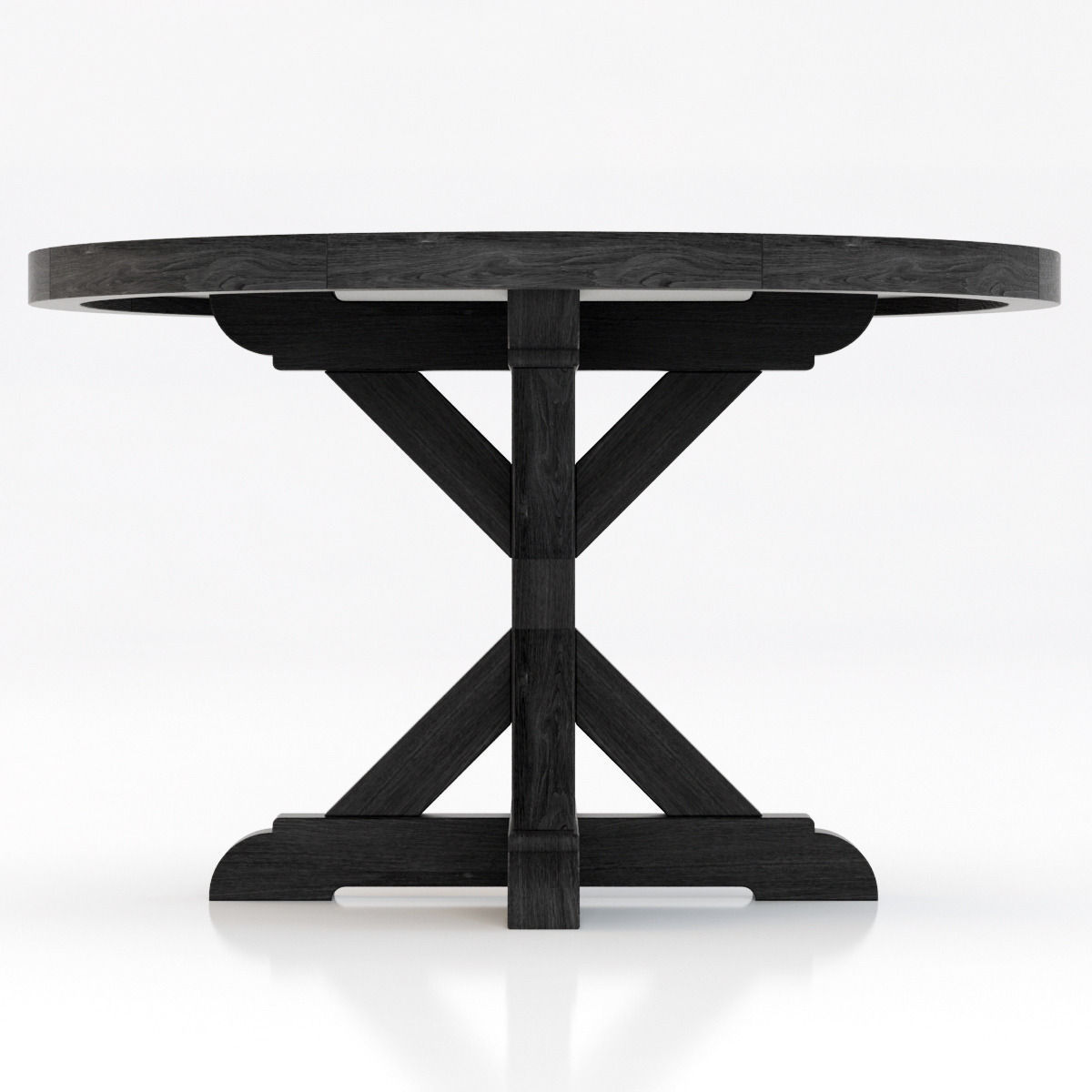 Restoration Hardware Salvaged Wood X Base Dining Table D Model - X base dining table