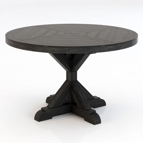 Good Restoration Hardware Salvaged Wood X Base Dining Table 3D Model
