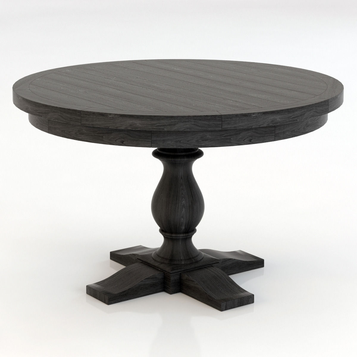Restoration Hardware Monastery Round Dining Table 3d Model Max Obj 3ds Fbx  Mtl 1 ...
