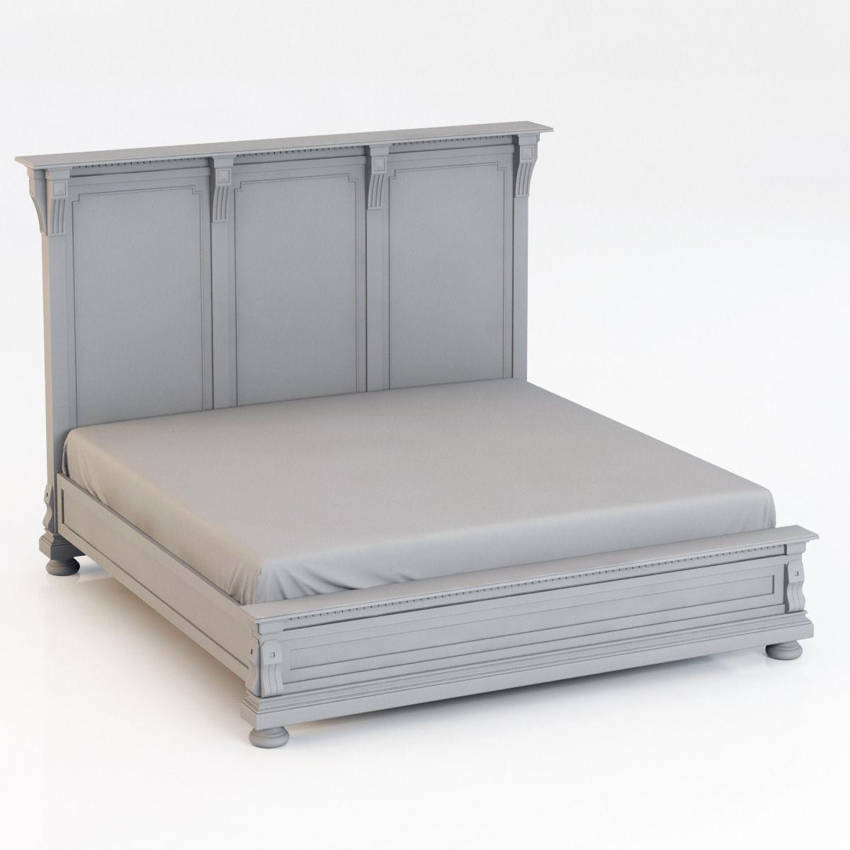 Restoration Hardware St James King Bed Without Footboard 3d Model Max  10