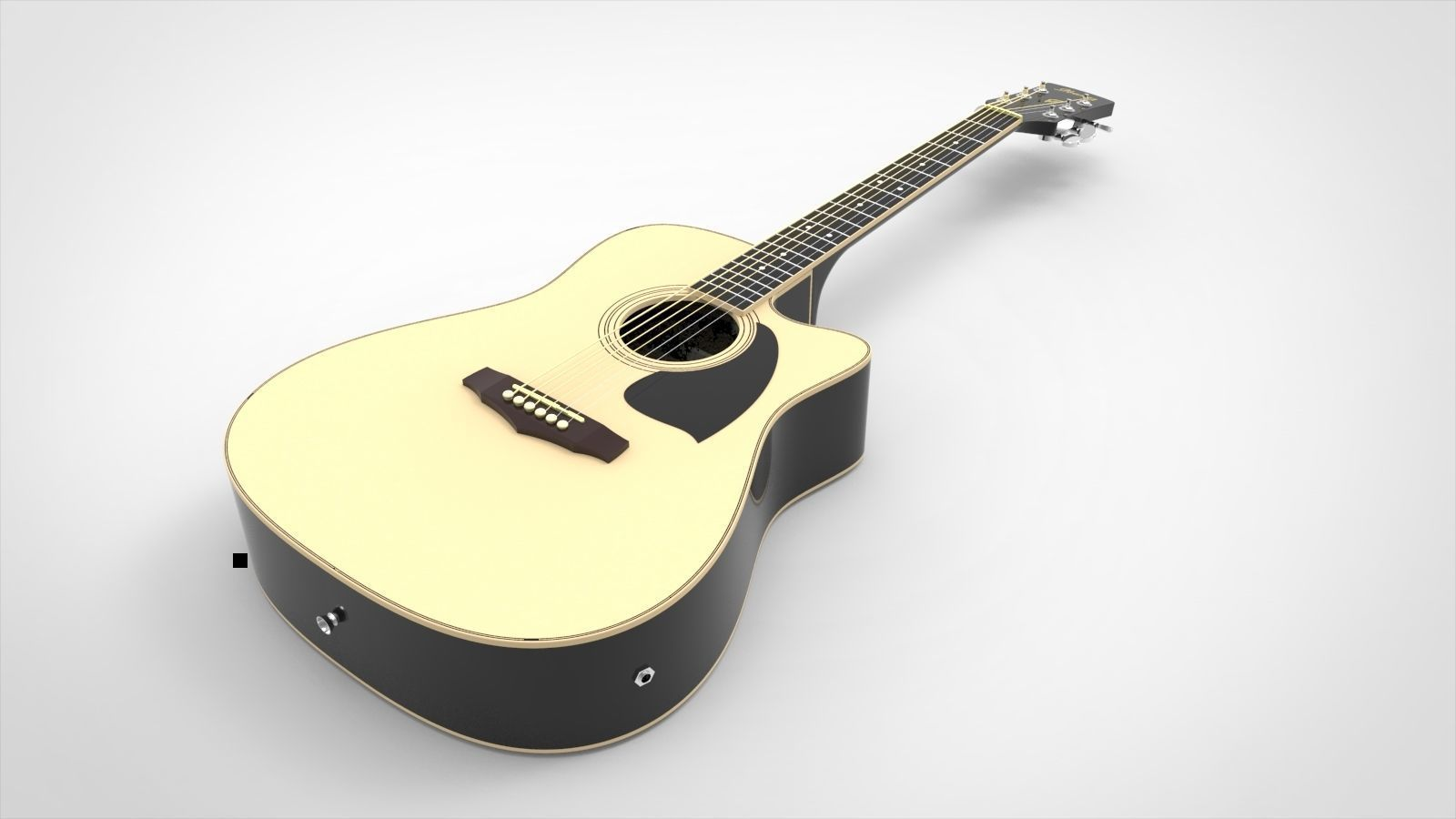 Ibanez Electroacoustic Guitar with Materials