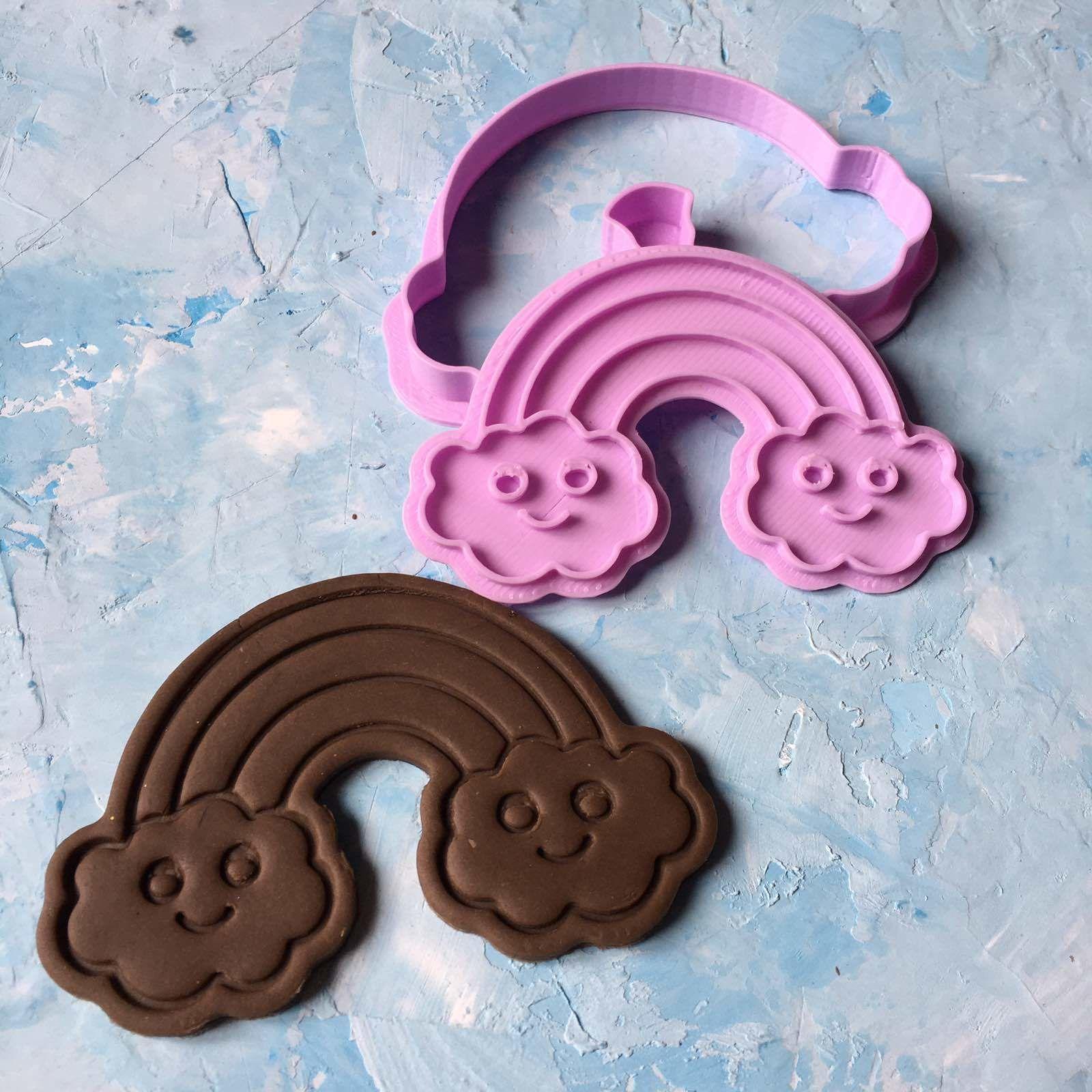 Rainbow cookie cutter stl file 3D print model