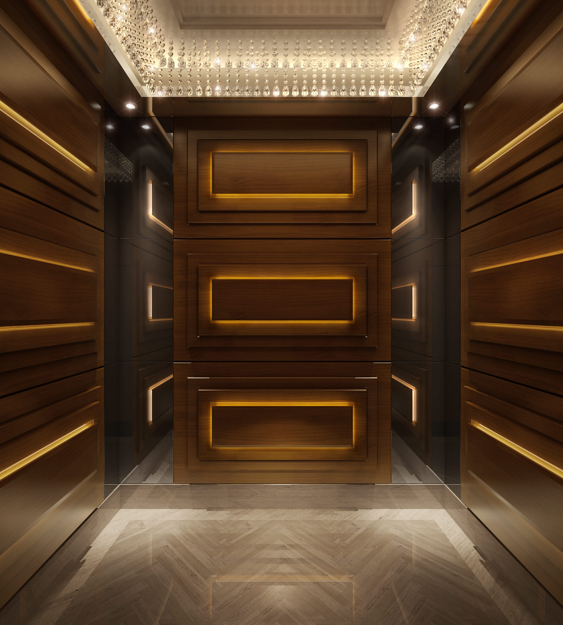 Lift elevator 3d model max tga for Luxury elevator