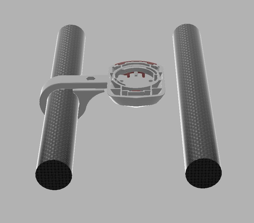 Wahoo ELEMNT BOLT Mount for any AEROBAR TT bars 3D print model