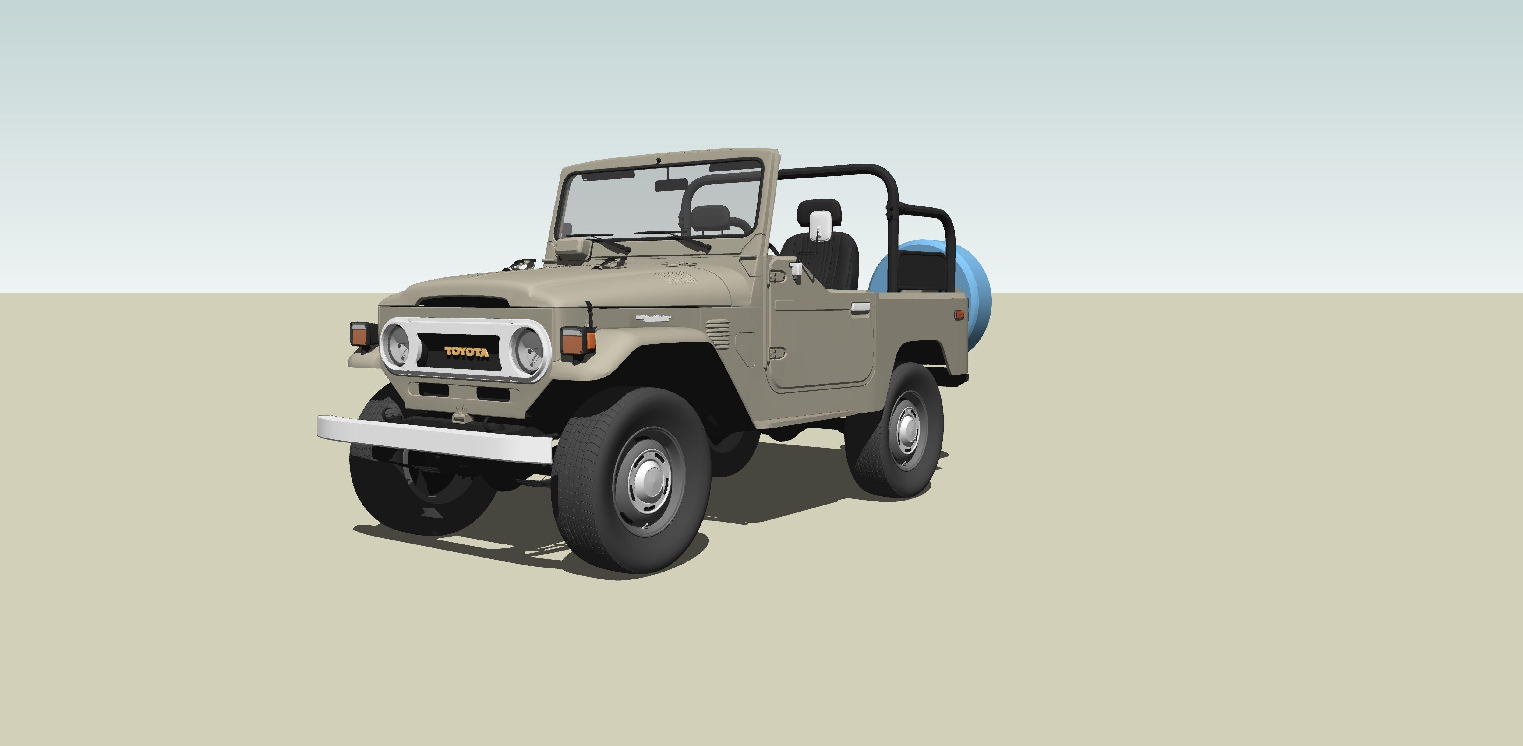 3D model Toyota FJ Cruiser   CGTrader
