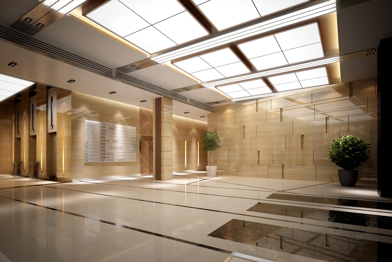 Hotel Foyer Lighting Uk : Hall lobby d model max cgtrader