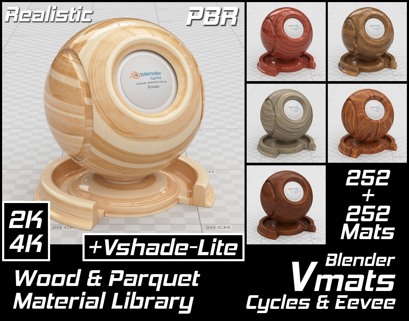VMATS Wood and Parquet Material Library for Cycles and Eevee