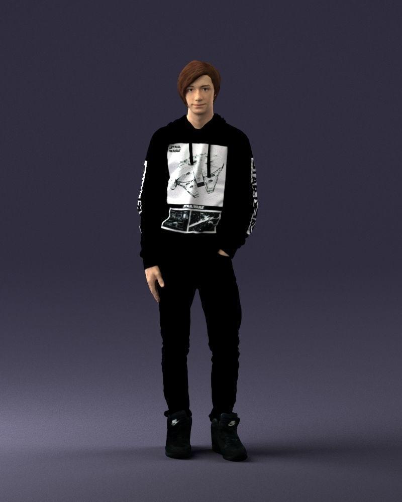 Teen in a Star Wars hoodie 0183 3D Print Ready