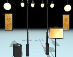 cafe restaurant tools 3D model