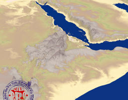 Middle East elevation map 3D