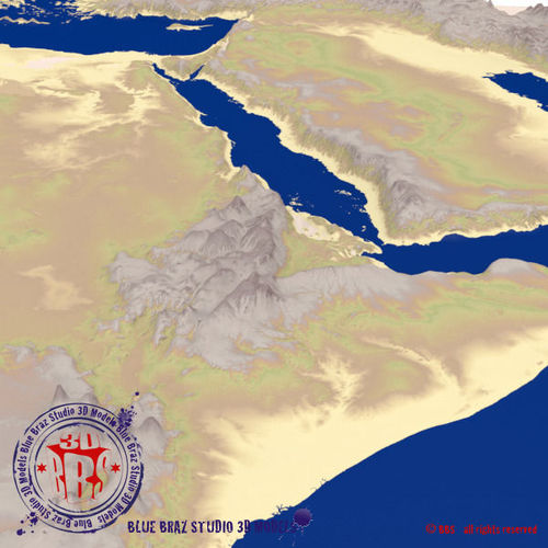 Middle east elevation map 3d cgtrader middle east elevation map 3d model gumiabroncs Image collections