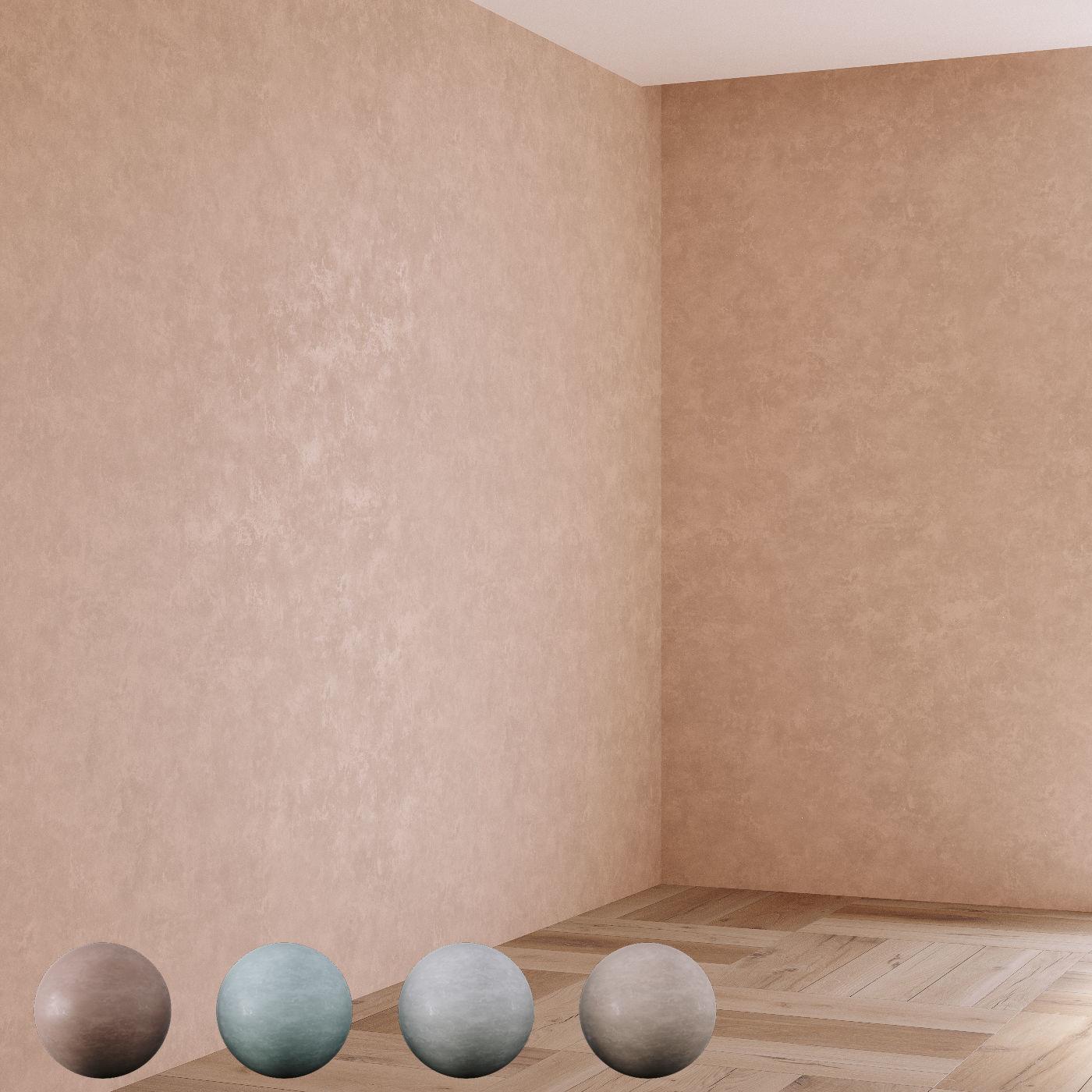 Decorative plaster 4 colors part 02
