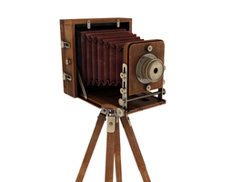 retro camera 3d model max obj fbx