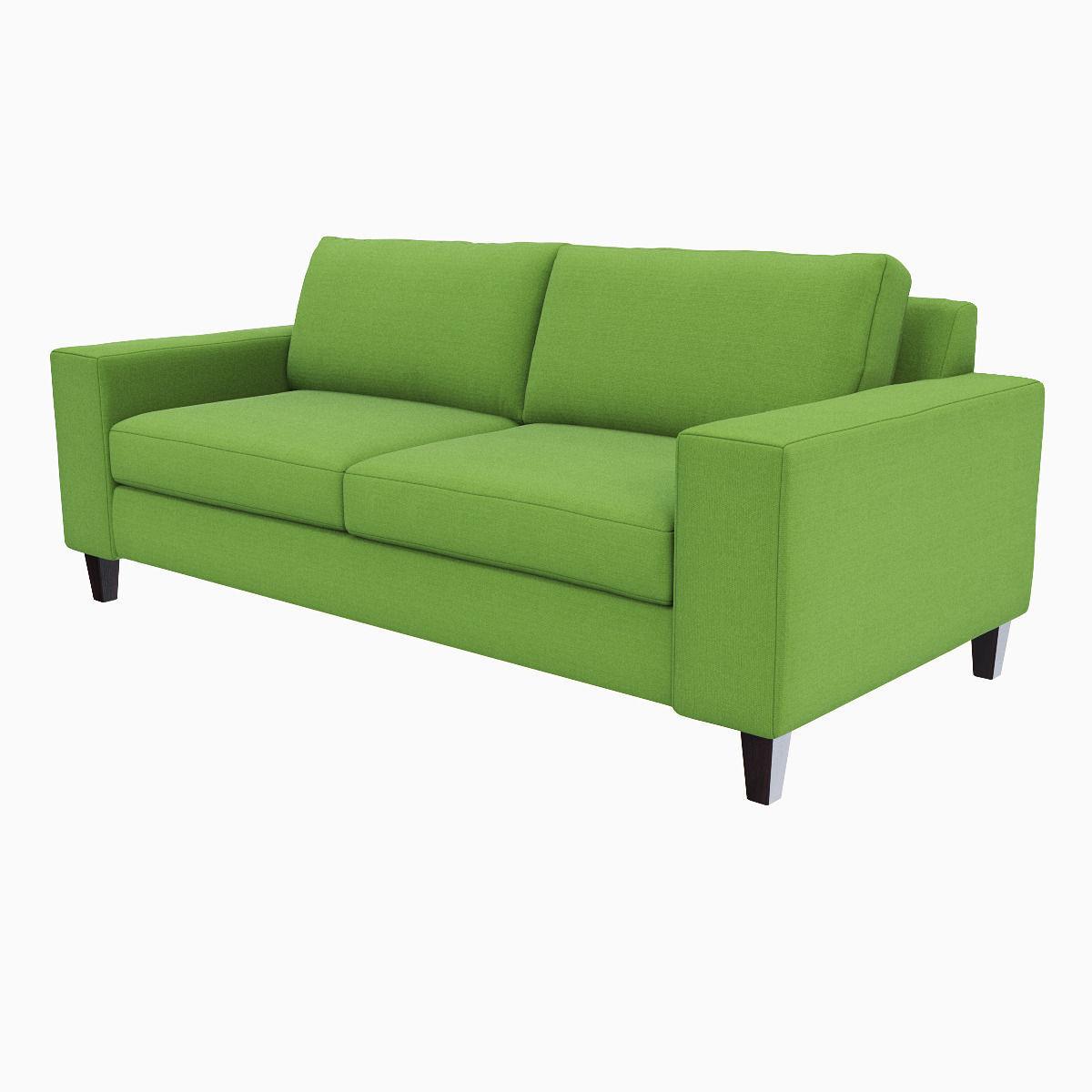 ... West Elm York Sofa 3d Model Max Obj Mtl Fbx 3 ...