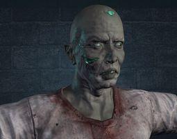 zombie radioactive 3d model low-poly fbx