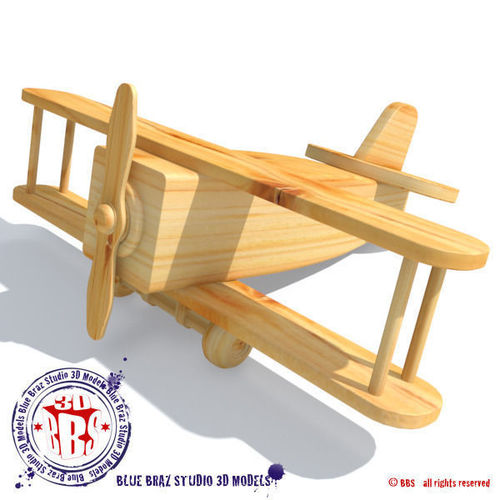 wooden airplane | 3D model