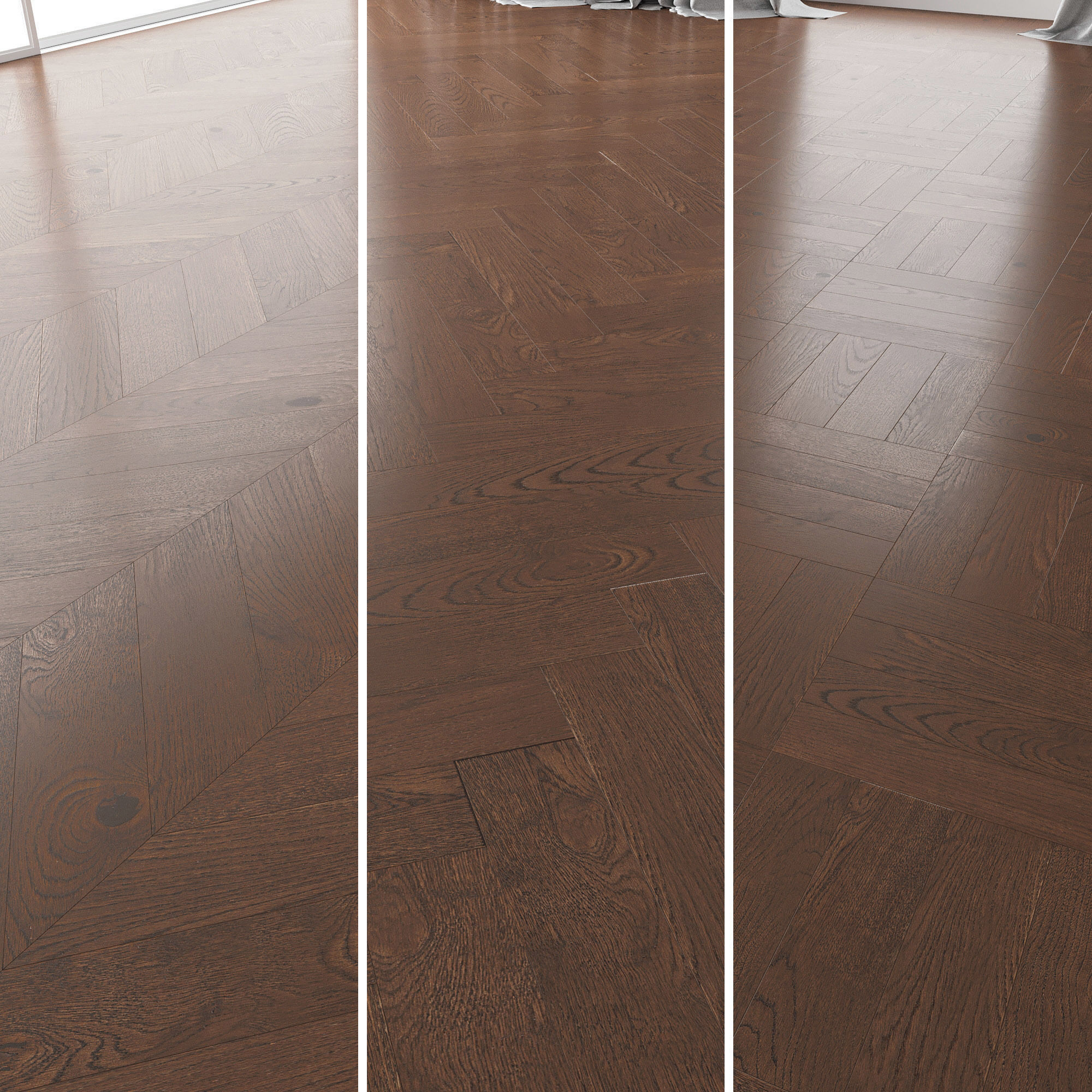 Parquet Oak Seal Brown WWL set 4