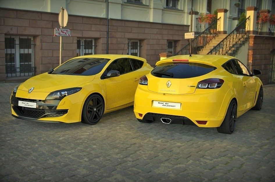 renault megane 3 rs free 3d model obj mtl tga. Black Bedroom Furniture Sets. Home Design Ideas