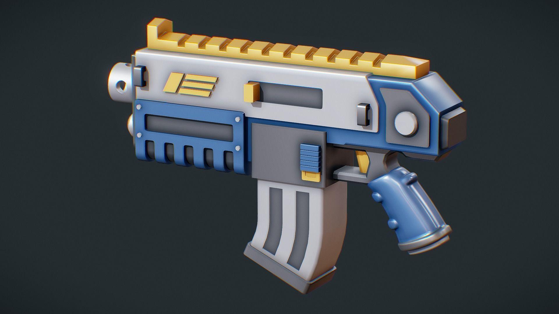 Simple Cartoon Assault Rifle