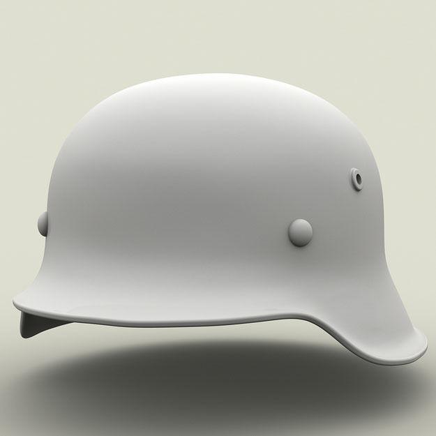 SPM-002-M42-01Print WWII Period M42 German Helmet 3D Model