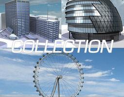 3D model London building collection