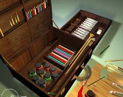 Artist suitcase 01 3D model