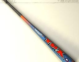 baseball bat 7 3d model obj 3ds c4d dxf