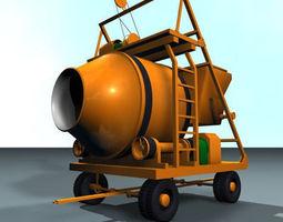 concrete mixer 01 3d model