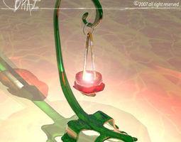 Lizard candle 3D