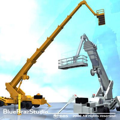 wheeled spider platform 3d model obj mtl 3ds c4d dxf 1