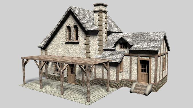 Old cottage house 3d cgtrader for House 3d model online