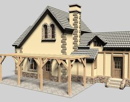 3D Family house bungalow