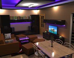 3d model flat interior 2