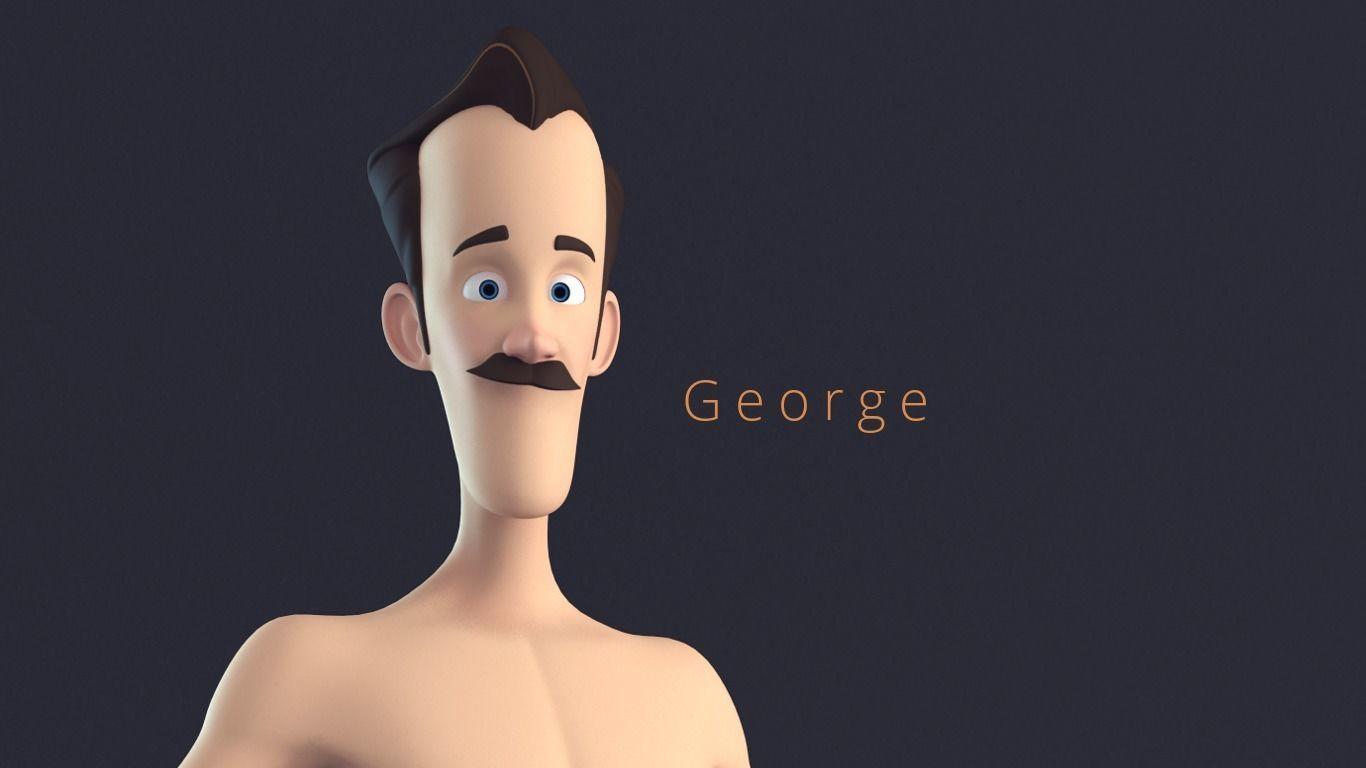 Geroge Stylised Male Cartoon Character