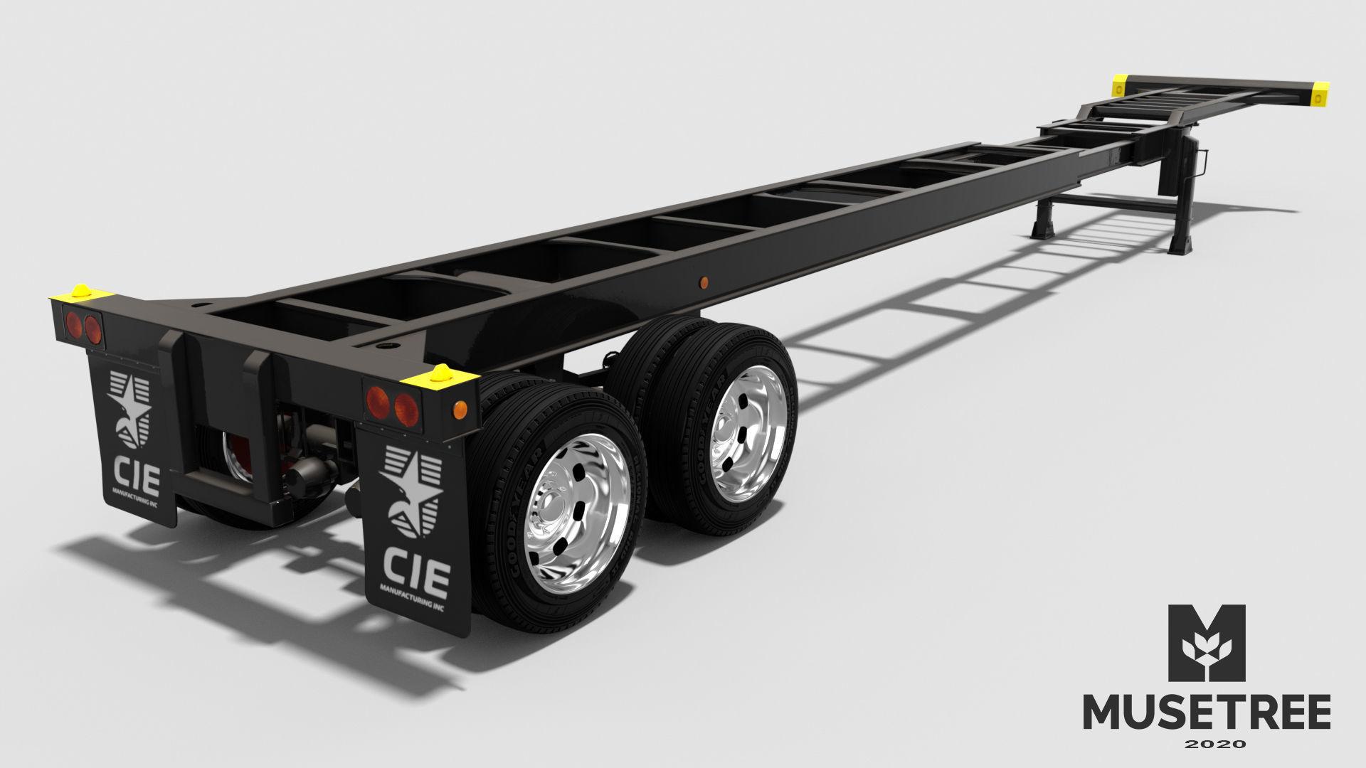 Extendable tandem trailer