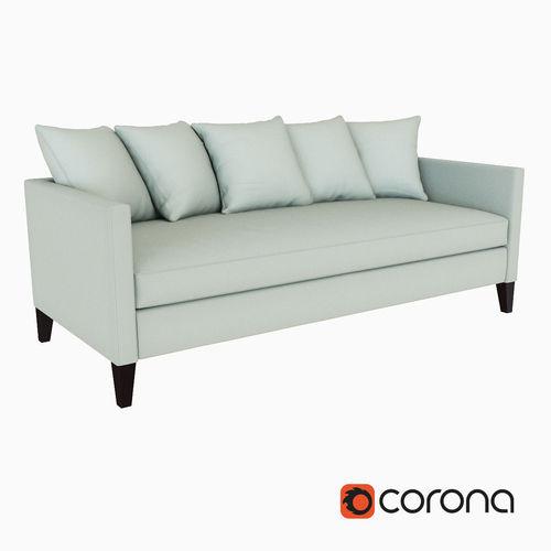 West Elm Dunham Down Filled Sofa   Toss Back 3D Model