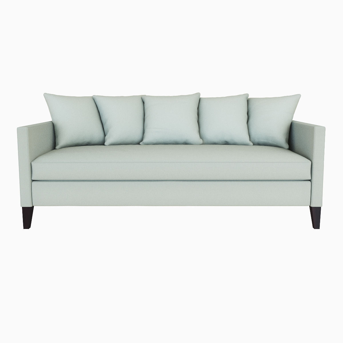 ... West Elm Dunham Down Filled Sofa   Toss Back 3d Model Max Obj Fbx Mtl  ...