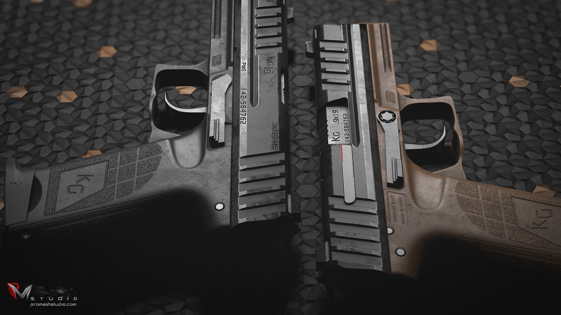 PMS KG19 Pistol and Knife - Models and Textures