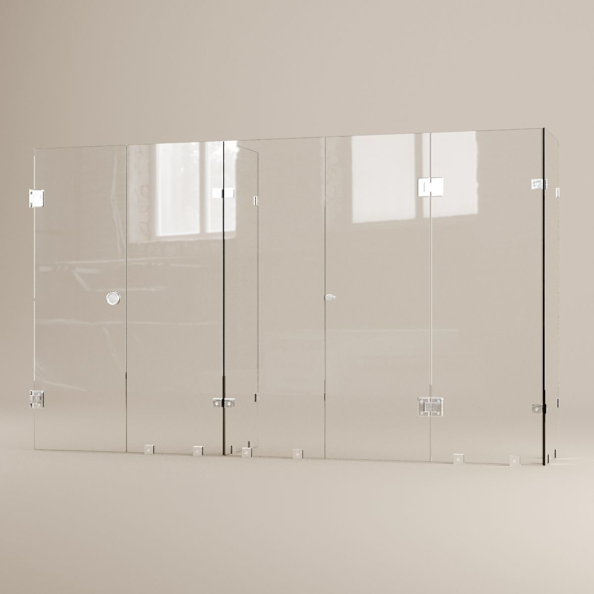 Bathroom glass accessories