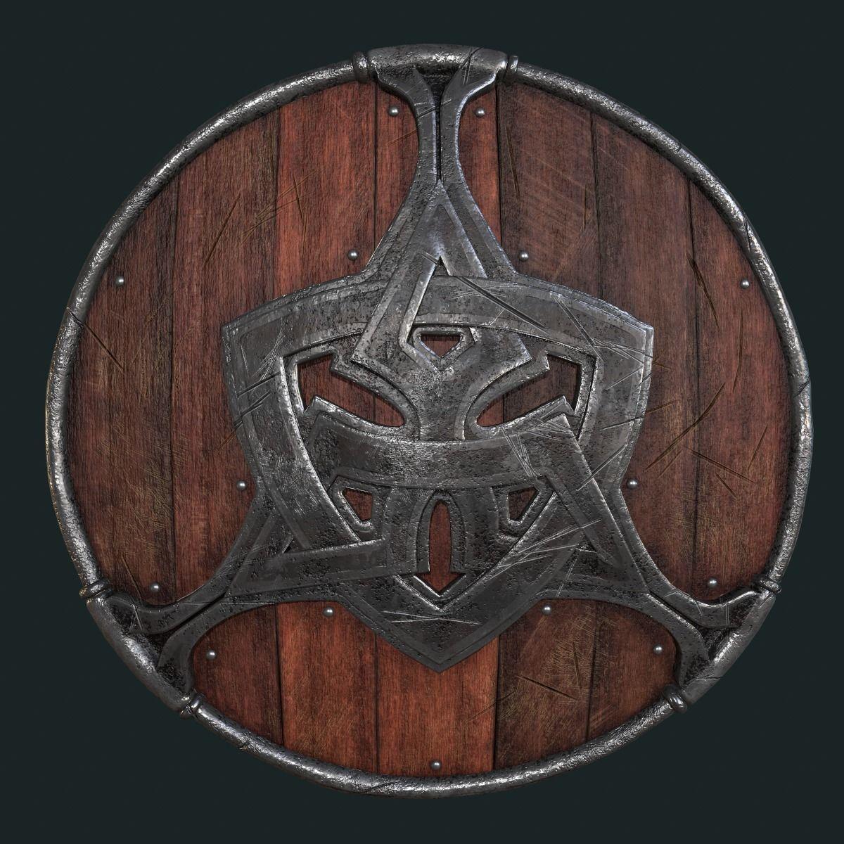 Viking Shield PBR-LowPoly