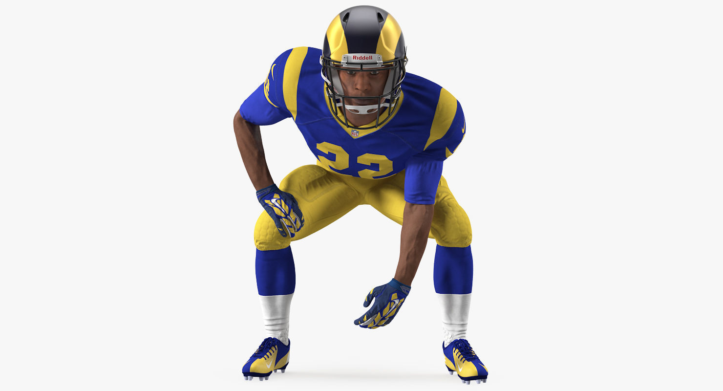 American Football Player LA Rams Rigged