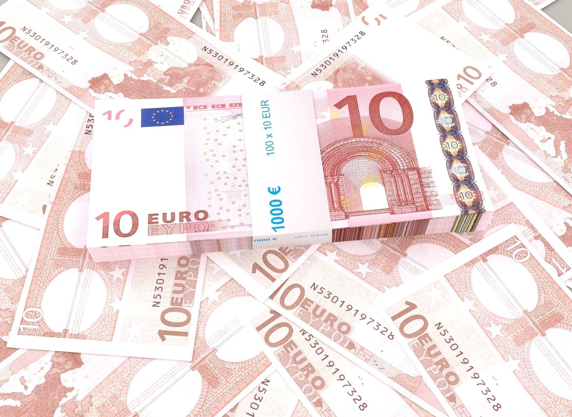 10 euro banknote packs