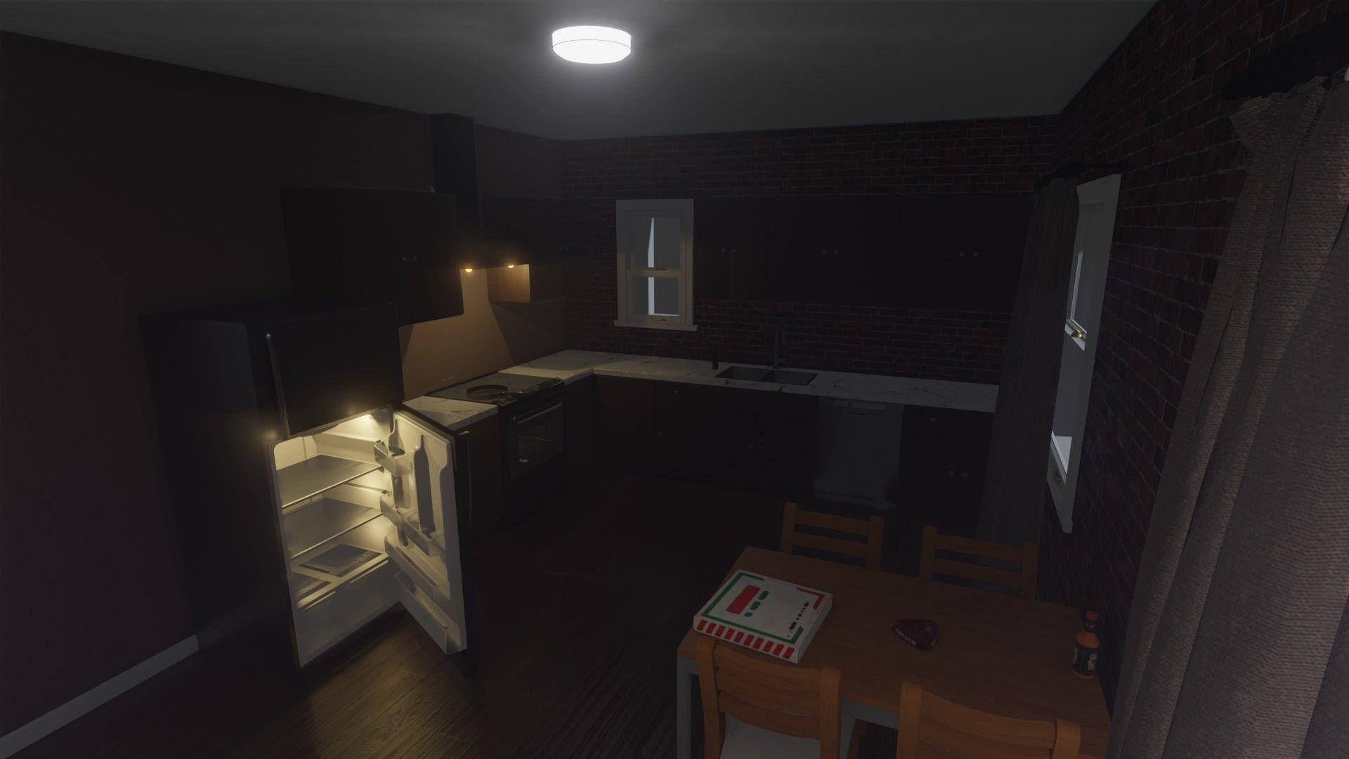 Simple Apartment Kitchen