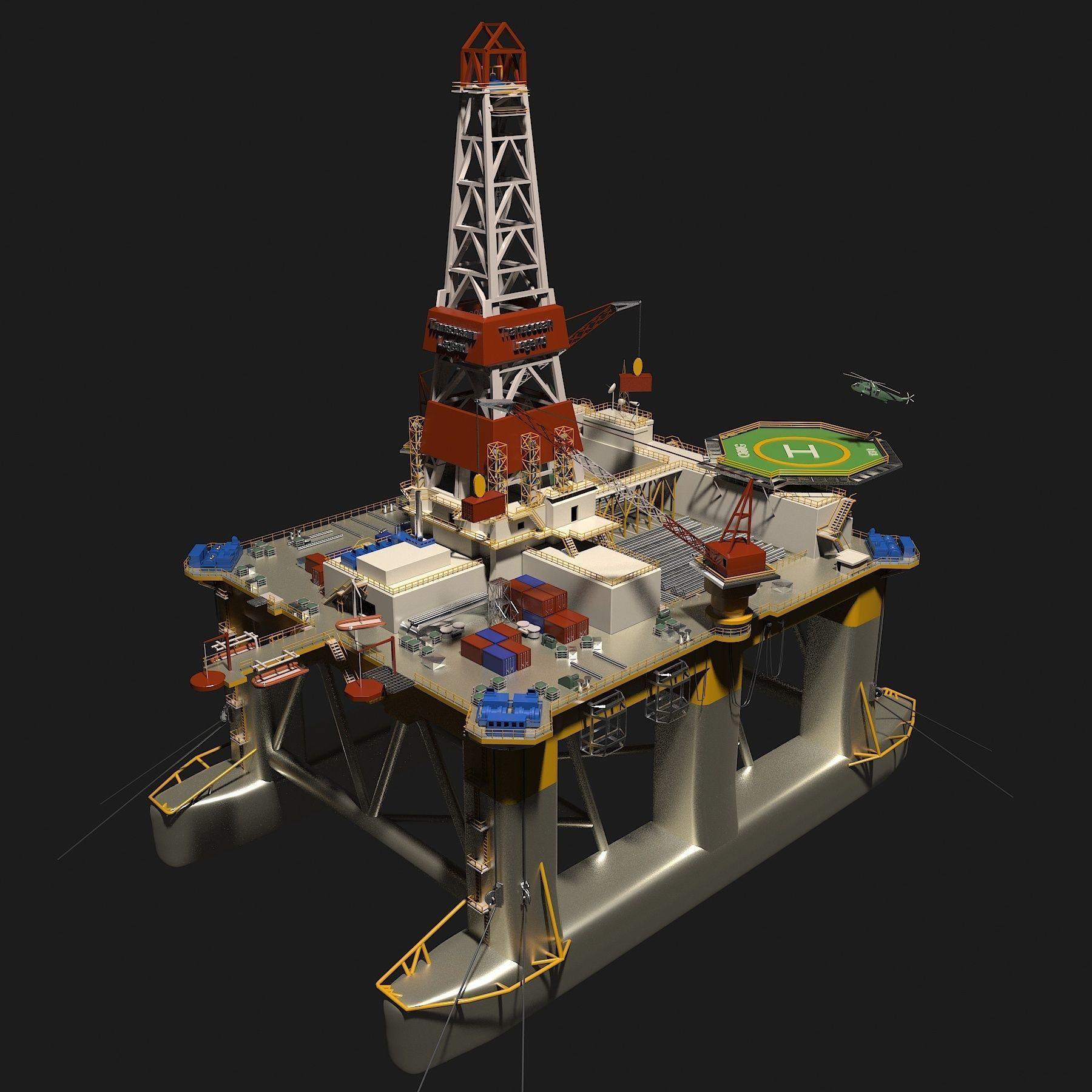 TransOcean Legend Oil Platform