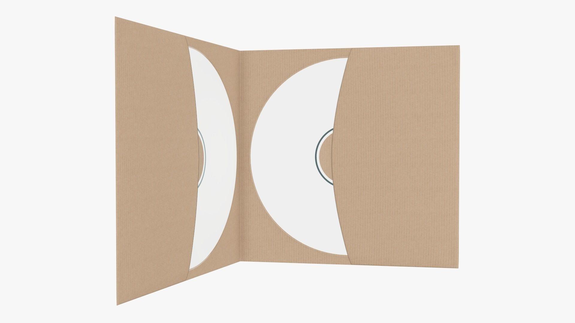 DVD in a paper brochure