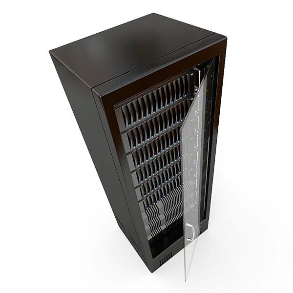 Server Rack 3d Model Obj 3ds Fbx Blend